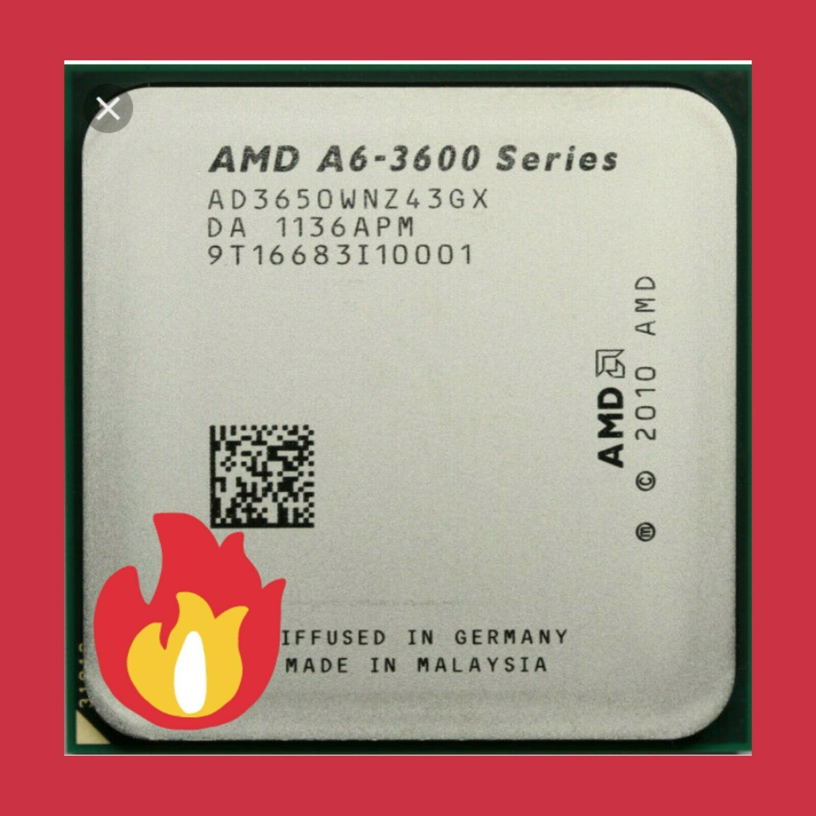 AMD A6-5400b AD540BOKA23HJ 3 6 GHz Dual-core CPU Socket Fm2