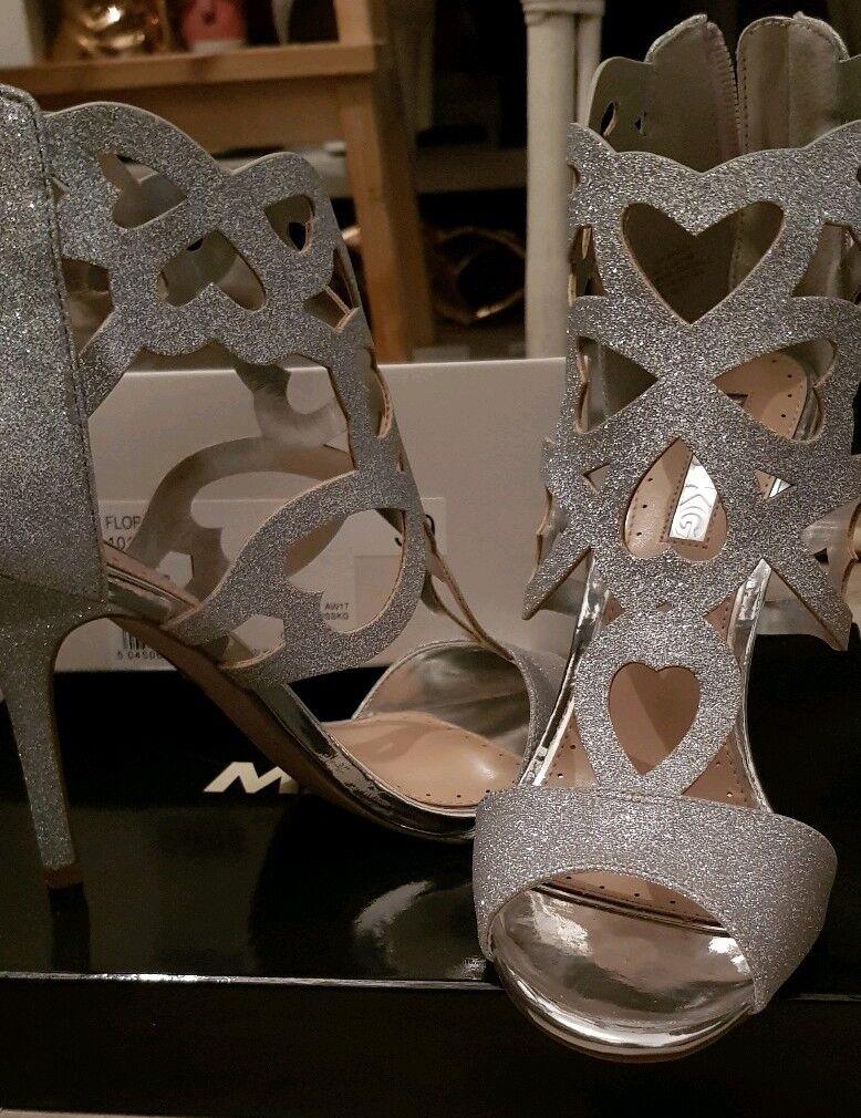 KG Florence Größe Größe Größe 6 Silber Glitter Heels cce9c2