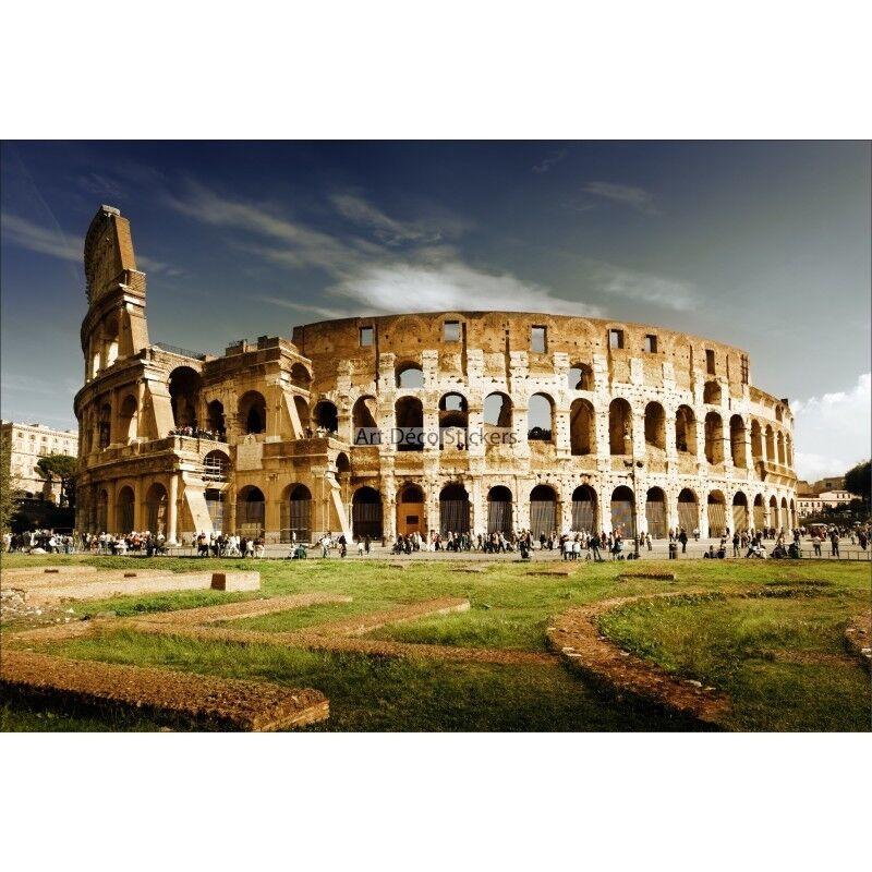Pegatinas de pa  rojo  gigante decoración  pa Coliseo Roma 1567 5d6e9a