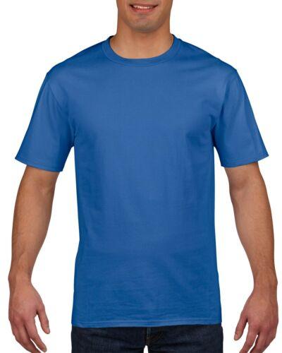 XXL XL Gildan Premium Cotton T-Shirt Herren Royalblau L