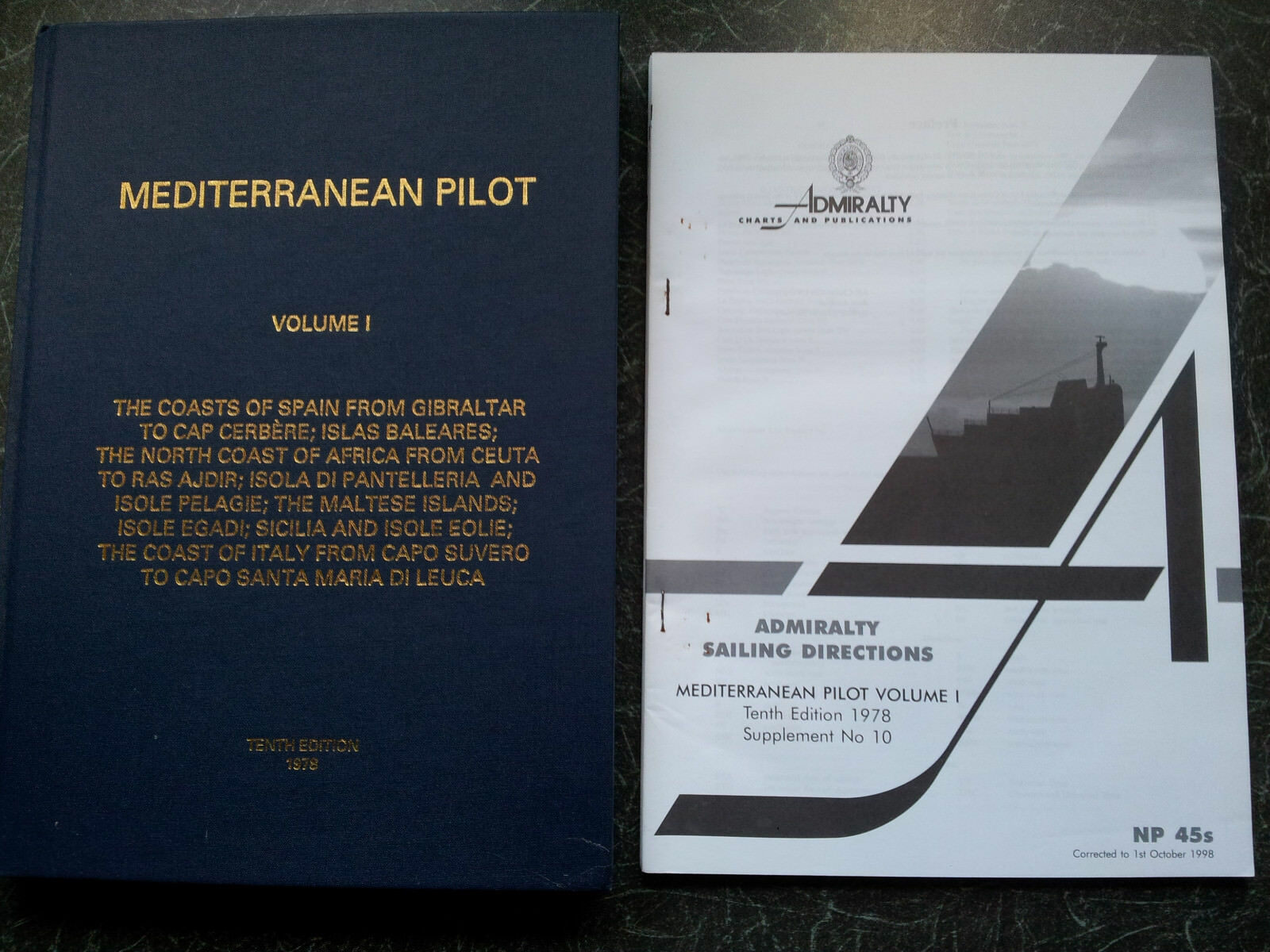 Mediterranean Pilot volume 1 tenth edition 1978 corrected to 1998
