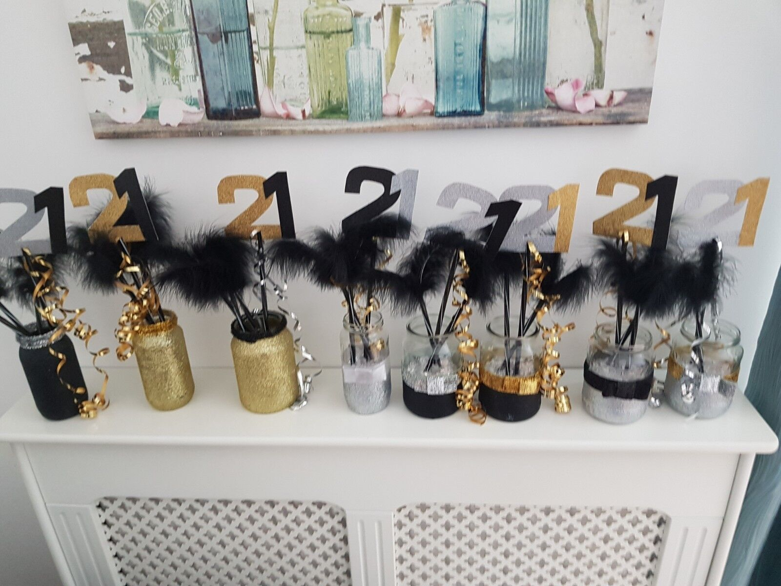 21st Birthday Table Decoration Centrepieces