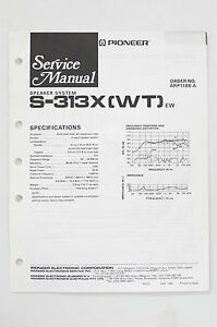 Pioneer-S-313-x-WT-Speaker-System-Service-Manual-Guide-WIRING-DIAGRAM-O68B