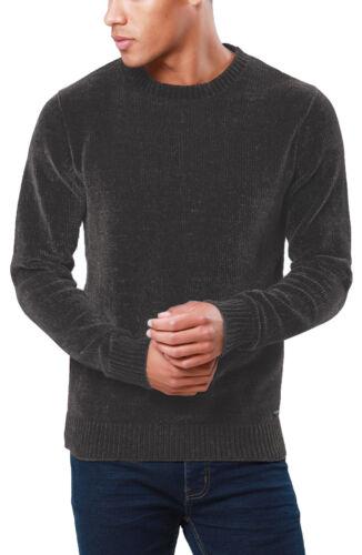Mens Threadbare Chenille Crew Neck Jumper Knitwear Sweater Top PulloverABORIGINE