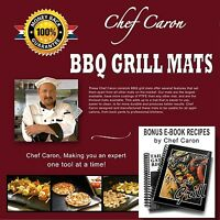 Chef Caron Bbq Grill Mat Designed For The Professional 17 X 13 - Set Of 2 N...