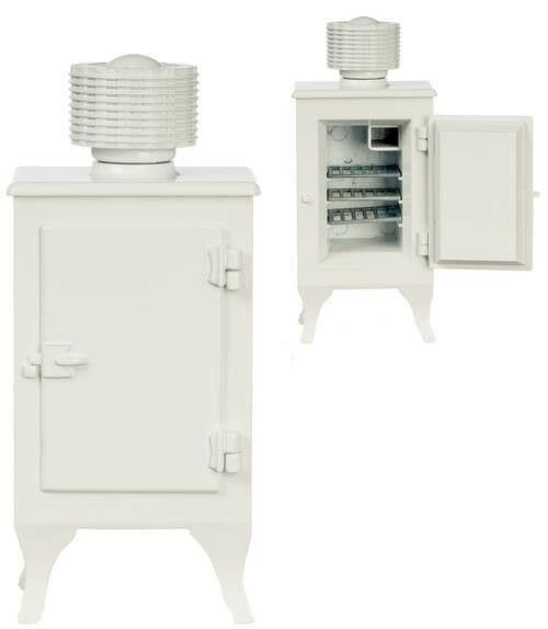1920s Monitor Oberteil Kühlschrank - Dollnhaus 1 12 Maßstab Miniatur Eisfach