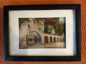 Framed-Vintage-Postcard-Riverside-California-Glenwood-Mission-Inn