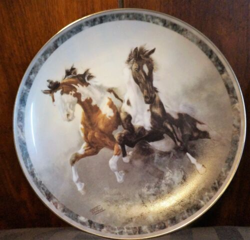"""Galloping Glory"" Bradford Exchange Collector Plates by Chuck Dehaan wCOA 6"