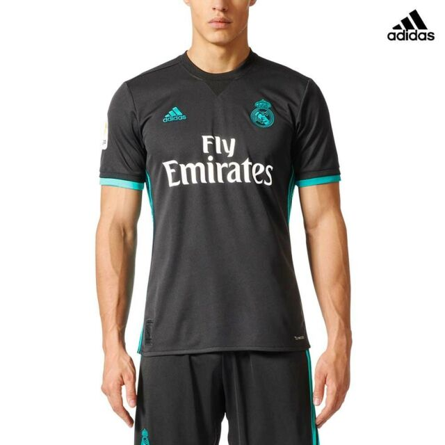 online retailer dc692 f3322 ADIDAS REAL AWAY JSY T-SHIRT OFFICIAL REAL MADRID SECOND 2017 18 BLACK  CF9578