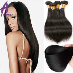 8A-Brazilian-Peruvian-Indian-Hair-Human-Hair-Extensions-Weave-300g-3-Bundles