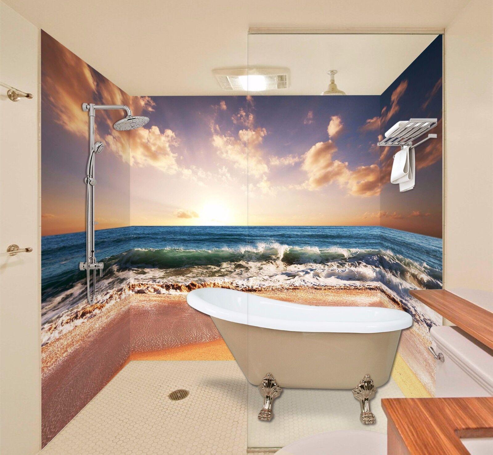 3D Seaside Scenery 43 WallPaper Bathroom Print Decal Wall Deco AJ WALLPAPER AU