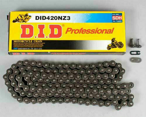 Natural 110 Links DID 420 NZ3 Super Non-O-Ring Series Non-Sealed Chain