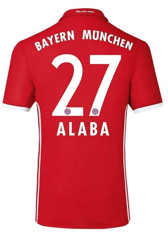 Trikot Adidas FC Bayern 2016-2017 Home - Alaba 27  FCB