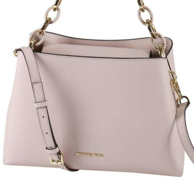 Michael Kors Saffiano Leather Portia Large Ew Satchel Bag In Soft Pink