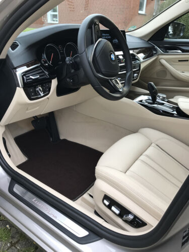 Fußmatten für BMW 7er E32 4-teilig in Velours Deluxe dunkelbraun brasil