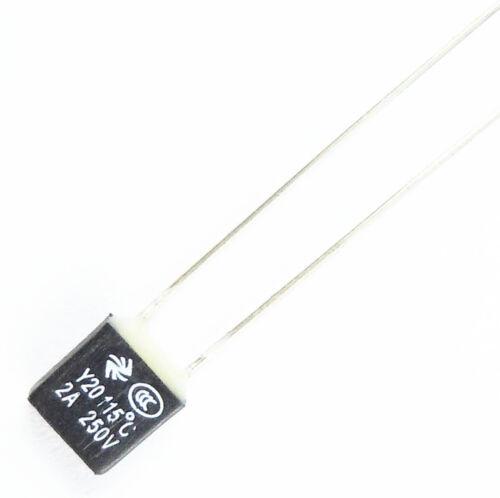 5 Pcs RH 115℃Thermal Fuse 2A 250V New
