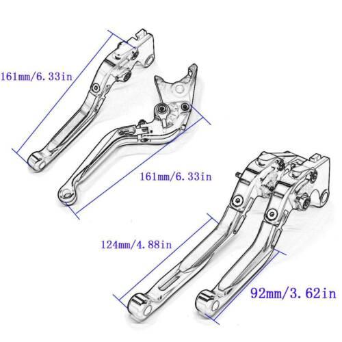 CNC Fold/&Extend Brake Clutch Levers/&Grips For Yamaha FZ1 FAZER 06-15 FZ6N 04-09