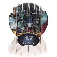 3d Pop Up Snow Globe Greeting Card - York - Up-wp-eg-044