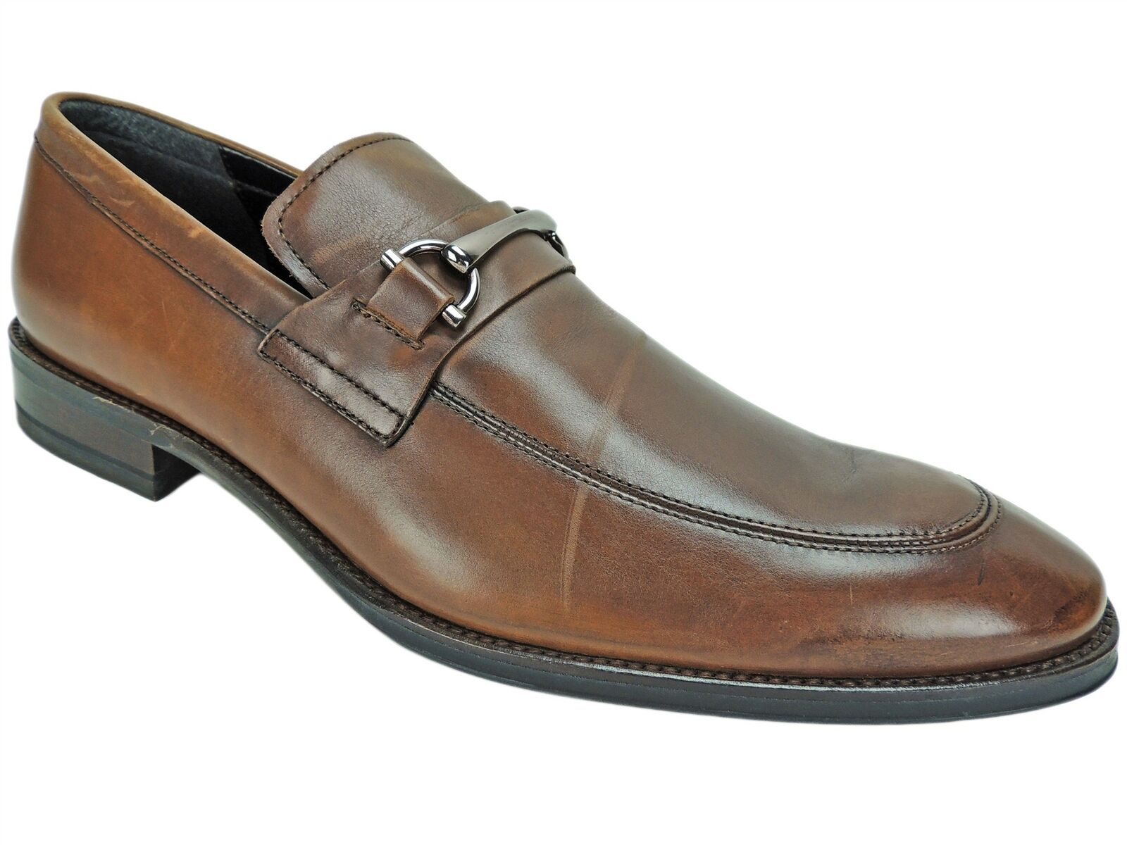 Kenneth Cole New York Men's Gathering Loafers Cognac Leather Size 12 M
