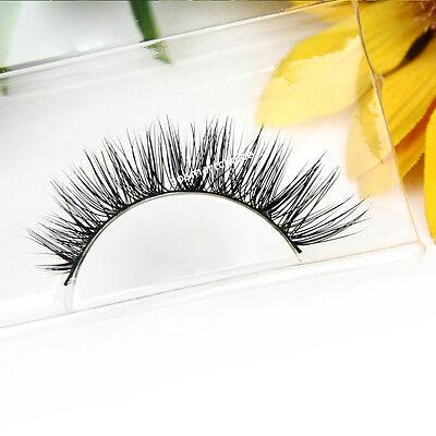 Hot Sale! Handmade Mink Eye Lashes Natural Long Cross False Eyelashes Fashion