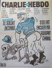 CHARLIE HEBDO No 54 JUILLET 1993 CABU LE SOLDAT INCONNU S EST FAIT .. PAR CHANAL