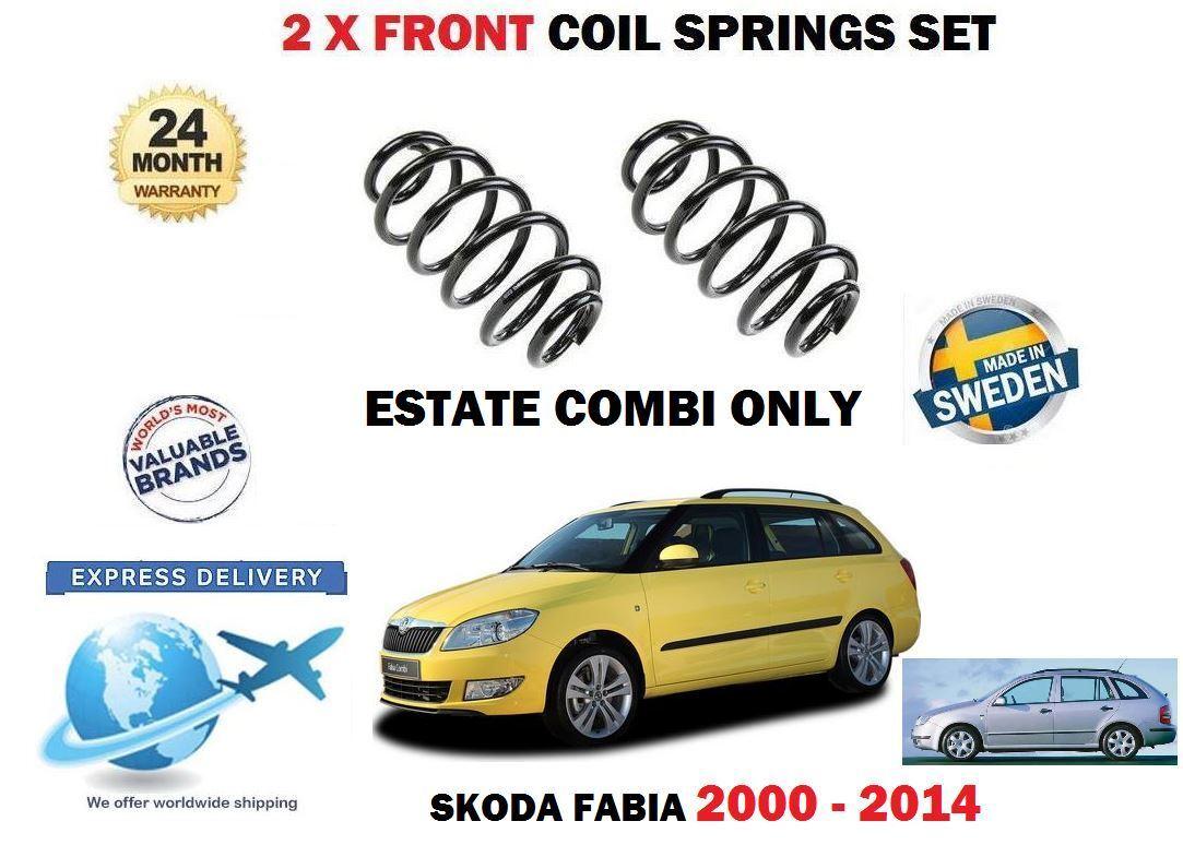 Für Skoda Fabia 1.2 TSI 1.4 16v Kombi 2000-2014 2 X Vordere Spiralfedern Satz