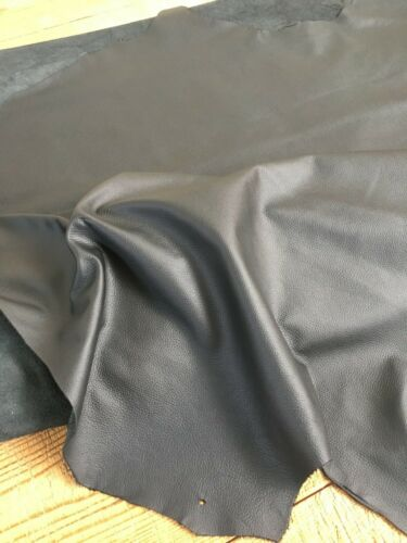 Large Top Quality 41 SQ FT Genuine Leather Cow 1.1mm Black Whole Hide Upholstery