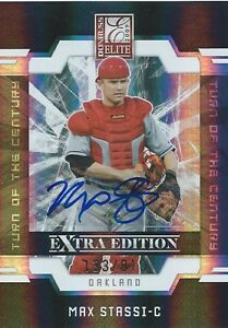 HCW-2009-Donruss-Elite-Extra-Edition-MAX-STASSI-810-Auto-Turn-of-Century