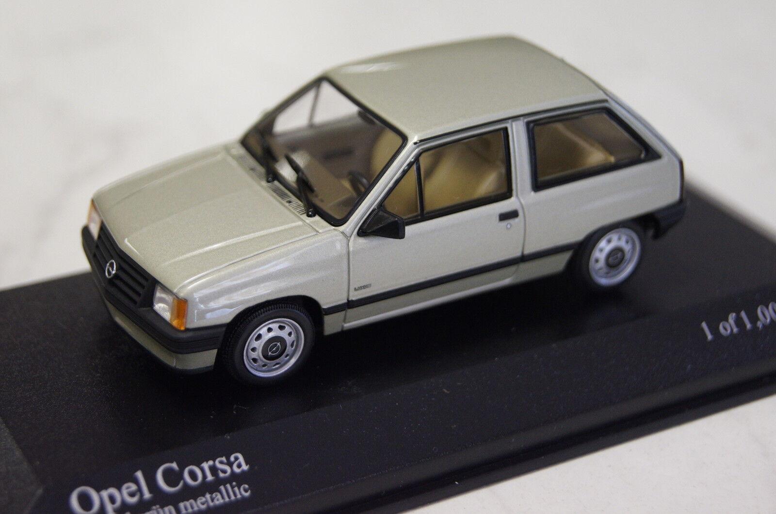 Opel corsa ein 1983 hellgr ü n metallic 1 43 minichamps neu & ovp 400045002