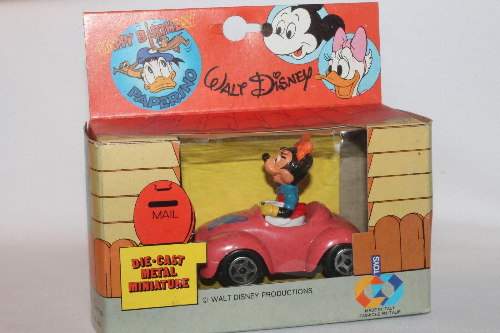 envío rápido en todo el mundo Polistil CB Juguetes, Juguetes, Juguetes, Hecho en Italia Diecast Minnie Mouse en Converdeible Coche,  comprar mejor