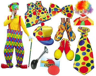 Color del arco iris de múltiples Unisex Payaso Lote Accesorios Conjunto de Disfraz Elaborado Vestido De Circo
