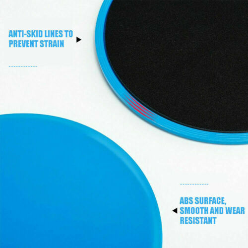 Yoga Sliding Plate Slider Disc Exercise Bums Core Gliding Gym Fitness skateboard