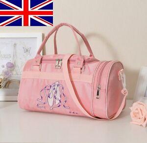 NEW-UK-seller-Pretty-Girls-Kids-Pink-BALLET-shoes-Bag-DANCING-Bag-Shoulder-Bag