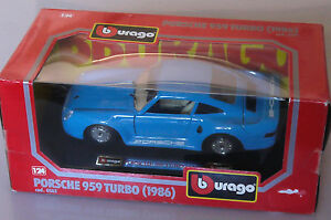 PRL-BBURAGO-BURAGO-1-24-METAL-DIE-CAST-COD-0563-PORSCHE-959-TURBO-1986-RACING