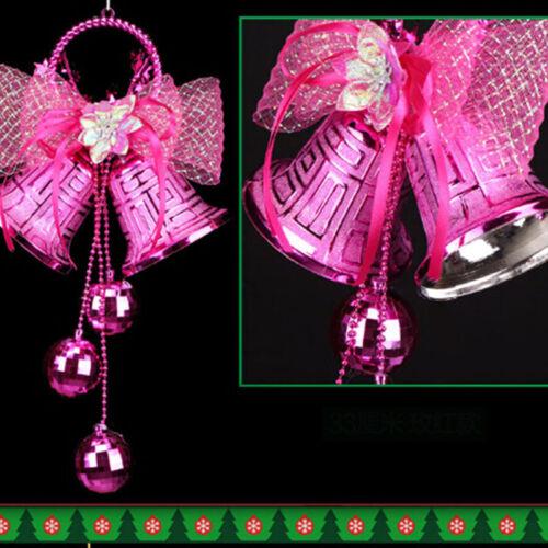 Christmas Tree Bowknot Hanging Bell Pendant Door Ornament Home Xmas Decor BT3