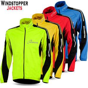 Cycling Jacket Windproof Windstopper Fleece Thermal Winter Long
