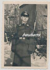 Foto Soldat Luftwaffe Mantel-Schirmmütze (b913)