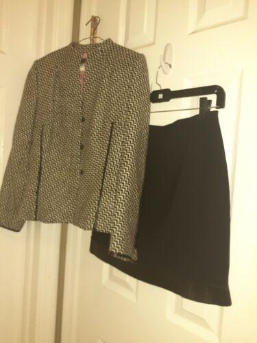 Kay Unger New York Suit Set Jacket  Skirt 4