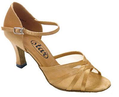 "sz5-9.5 701141 Black 2.5/"" Very Fine Quality Ballroom Latin Salsa Dance Shoes"