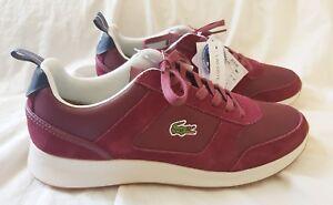 769c43831dd34 La foto se está cargando Zapatos-Tenis-Lacoste -Rojo-Oscuro-Vino-joggeur-Estilo-