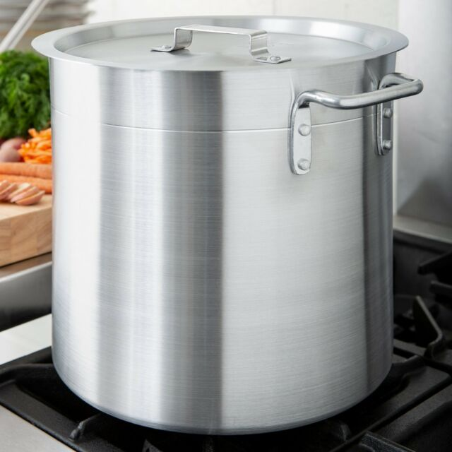 Stainless Steel Dutch Oven Nova 3-Qt Stovetop Aluminum Stock Pot Lid Oven Safe