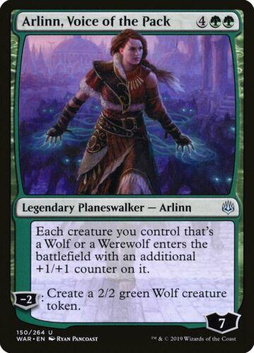 MTG Magic card Arlinn Voice of the Pack WAR Uncommon Planeswalker 150 Mint
