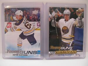 2019-20-Victor-Olofsson-Upper-Deck-Young-Guns-Rookie-207-Plus-CANVAS-C93-LOT-2