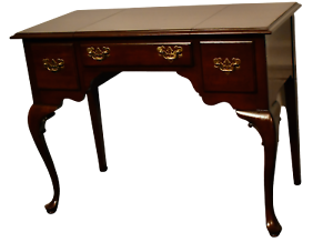 Vintage-Ethan-Allen-Solid-Cherry-Queen-Anne-Style-Flip-Top-Vanity-Desk