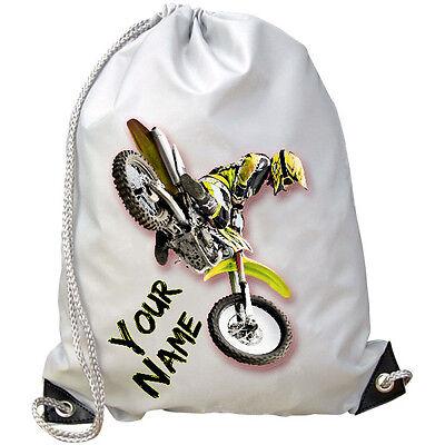 Cooperativa Giallo Motocross Mx Personalizzati Palestra/nuoto/pe Borsa-regalo Per Bambini Con Nome &-