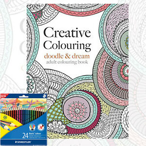 Image Is Loading Creative Colouring Doodle Amp Dream Book With