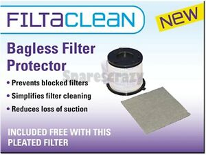 NEW FiltaClean Filter Protector For All Bagless Vacuum Cleaners