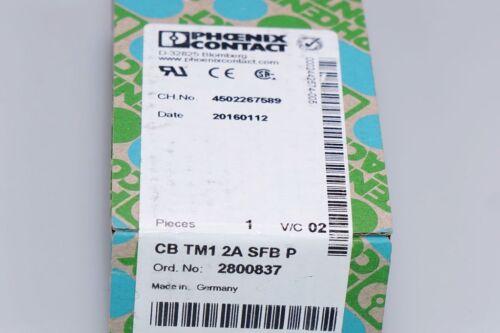 Phoenix Contact Thermomagn Geräteschutzschalter CB TM1 2A SFB P 2800837 NEU