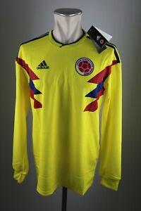 Kolumbien-Trikot-2018-Gr-M-L-XL-Adidas-WM-Jersey-Colombia-NEU-Home-Shirt-LS
