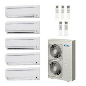 Details about 50,000 Btu 18 8 Seer Daikin 5-Zone Mini Split Heat Pump  System 7-7-9-12-15